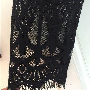 Amazing black lace romper sexy AF size m-l h&m